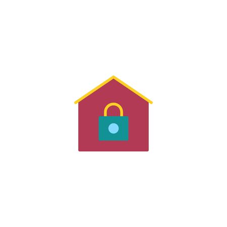Thin line Icon Stay Home icon. Staying at home during a pandemic Suitable for use on web apps, mobile apps, Vector illustration editable stroke . 64 x 64 pixel perfect on White Background Zdjęcie Seryjne - 144027251