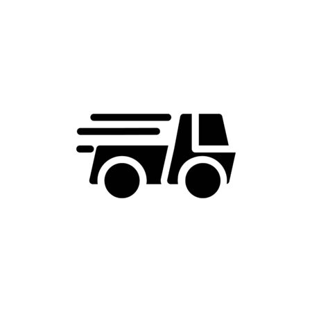 Solid icon Truck . Delivery Truck symbol vector sign isolated on white background. Simple logo vector illustration for graphic and web design, editable stroke . 48x48 pixel perfect Zdjęcie Seryjne - 144027279