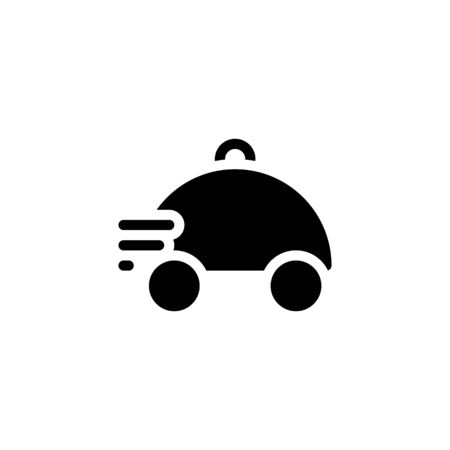 Solid icon food delivery icon vector, Pictogram flat outline design for apps , Isolated on white background, Vector illustration, editable stroke, 48x48 pixel perfect Ilustracja