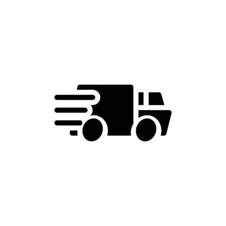 Solid icon Truck . Delivery Truck symbol vector sign isolated on white background. Simple logo vector illustration for graphic and web design, editable stroke . 48x48 pixel perfect Zdjęcie Seryjne - 144027284
