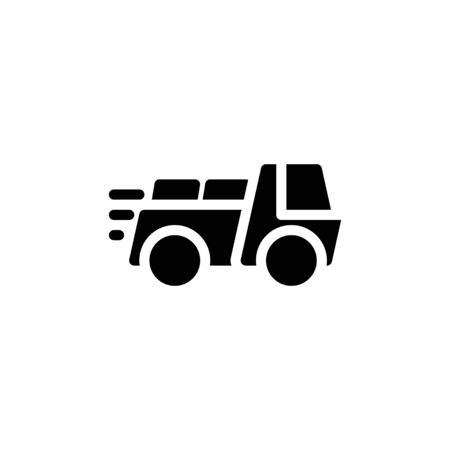 Solid icon Truck . Delivery Truck symbol vector sign isolated on white background. Simple logo vector illustration for graphic and web design, editable stroke . 48x48 pixel perfect