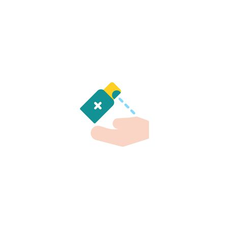 Thin line Icon Washing hand with sanitizer liquid soap, Suitable for use on web apps, mobile apps, Vector illustration editable stroke . 64 x 64 pixel perfect on White Background