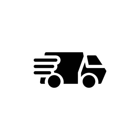 Solid icon Truck . Delivery Truck symbol vector sign isolated on white background. Simple logo vector illustration for graphic and web design, editable stroke . 48x48 pixel perfect Zdjęcie Seryjne - 144027320
