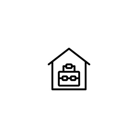 Simple set thin linear icon or logo suitcase suitable for mobile apps, website, and more.with editable stroke 48x48 pixel perfect on white background