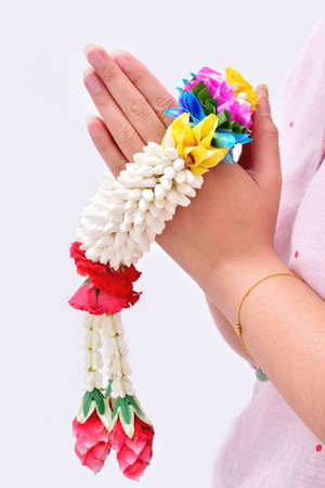 Thai traditional jasmine garland. symbol of Mothers day in thailand.