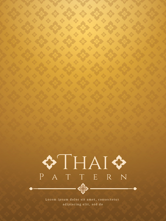 Modern line Thai pattern traditional concept The Arts of Thailand. Illustration