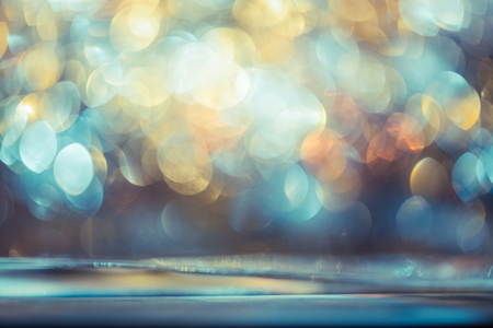 bokeh glitter Colorfull Blurred abstract background for birthday, anniversary, wedding, new year eve or Christmas. Stock Photo