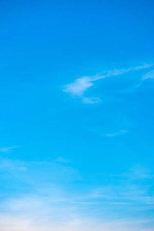 Beautiful blue sky with cloud formation background.