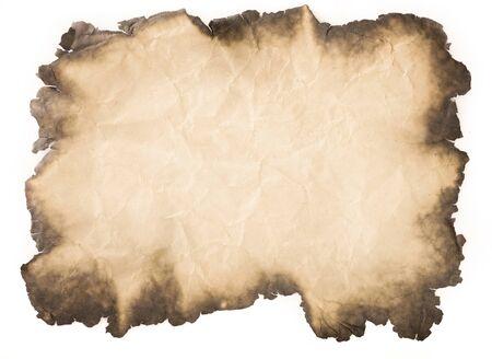 alter Papierweinlese gealtert oder Textur auf weißem Hintergrund. Standard-Bild