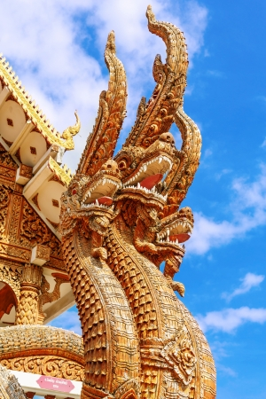 naga china: Thai dragon or king of Naga statue  Stock Photo