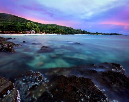 con dao: sea stones on sunset