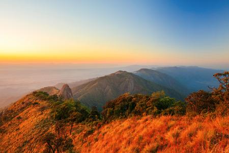 murk: Doi luang nationalpark on sunset at Phayao of Thailand Stock Photo