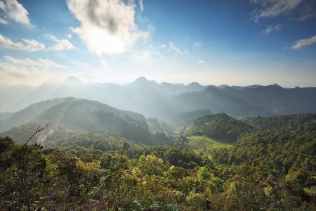 high dynamic range: Sunrise over the Mountain Range