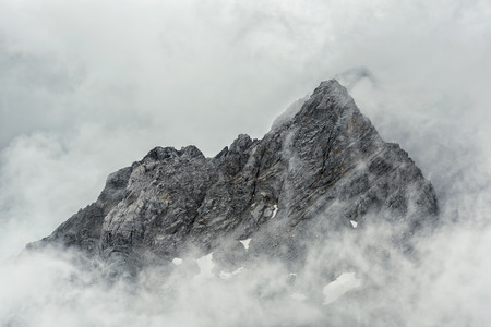 mountains and sky: Jade Dragon snow mountain Lijiang city, Yunnan China Stock Photo