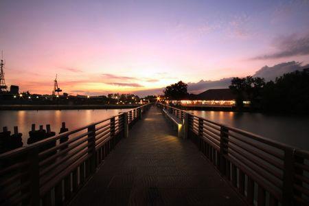 samutprakarn: Bridge toThai Bay Viewpoint, Samutprakarn Thailand