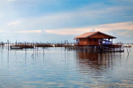 fishing village and home stay resort at Yor island, Songkhla Lake Stock Photo - 16544038