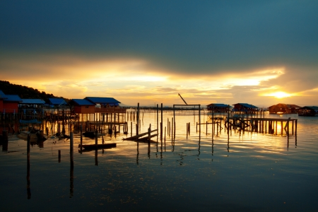 fishing village and home stay resort at Yor island, Songkhla Lake Stock Photo - 16544014