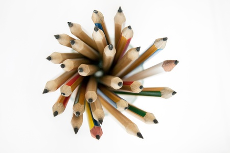 Aerial view of pencils in the glass Stock Photo - 16544049