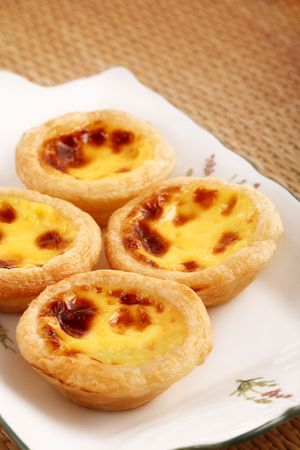 four tart with dish and cane Stock Photo - 4739140