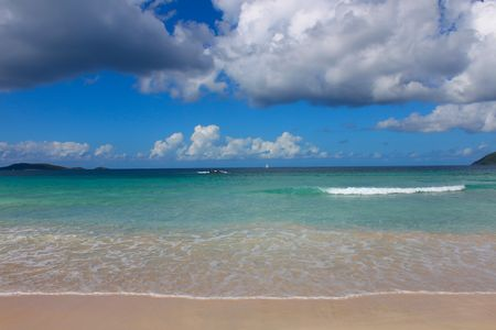 The beach at Smugglers Cove on Tortola (BVI). Stock Photo - 7283636