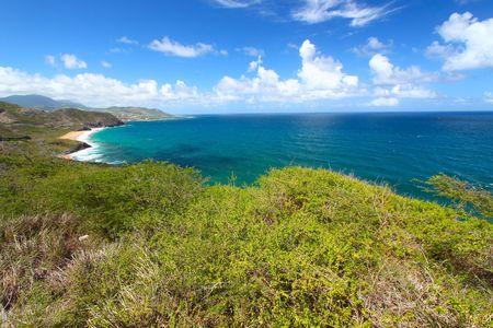The fabulous coastline of St Kitts.