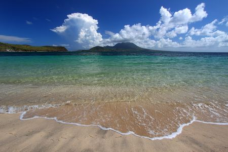 Majors Bay Beach on the Caribbean island of St Kitts. photo