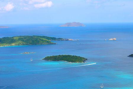 the virgin islands: Henley Cay - US Virgin Islands Stock Photo