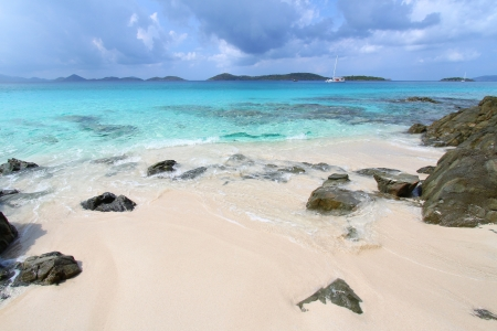 Honeymoon Beach on Saint John - US Virgin Islands Stock Photo
