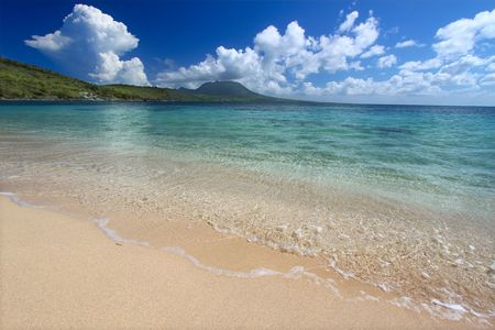 Secluded beach on Saint Kitts photo