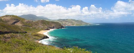 Fabulous coastline on the Caribbean island of Saint Kitts Stock Photo - 7416373