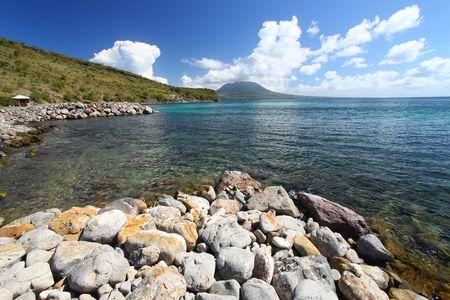 The coastline of Saint Kitts