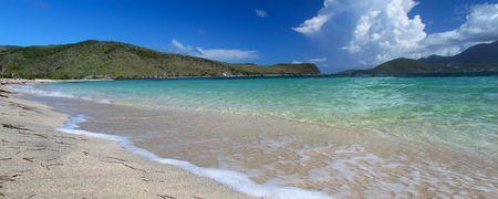 Secluded beach on Saint Kitts Stock Photo - 7439324