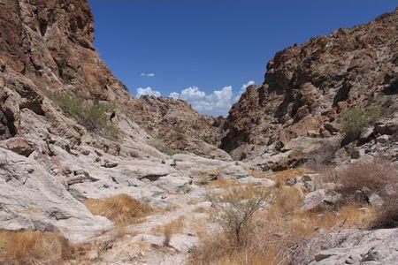 harsh: Harsh terrain of Grapevine Canyon in Nevada Stock Photo