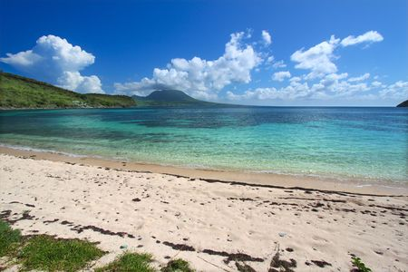 majors: Beautiful beach on Saint Kitts Stock Photo