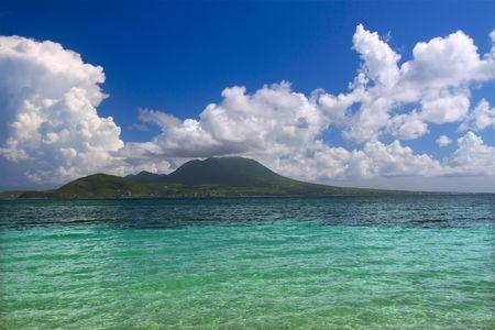 majors: Caribbean island of Nevis from Saint Kitts