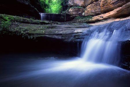 cascade: Lasalle Falls - Starved Rock State Park, Illinois
