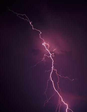 Lightning in northern Illinois photo