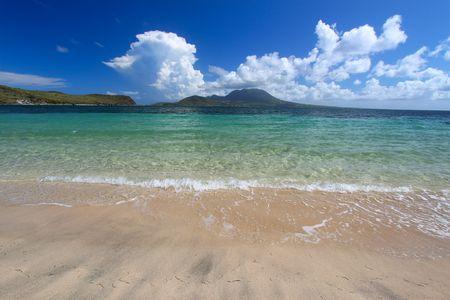 Beautiful beach on the Caribbean island of Saint Kitts