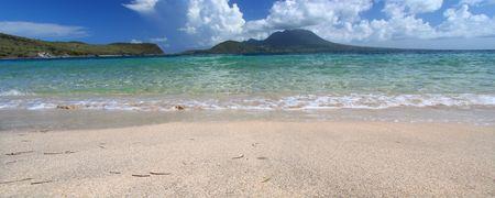 majors: Waves wash ashore at Majors Bay Beach on the Caribbean island of Saint Kitts