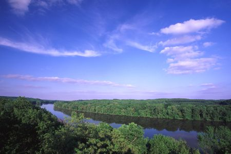 Rock River Valley from Castle Rock - northern Illinois photo