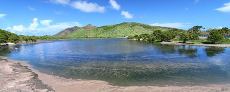 majors: Lagoon by Majors Bay on the Caribbean island of Saint Kitts