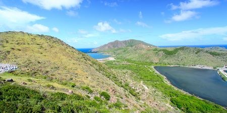 majors: View of the Caribbean island of Saint Kitts