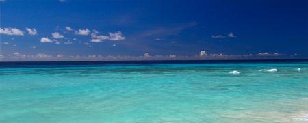 Atlantic Ocean from the Caribbean island of Barbados