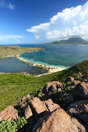 View of the Caribbean island of Saint Kitts