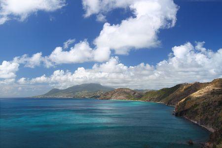 Majestic coastline of Saint Kitts