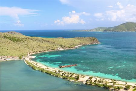 Beautiful beach on Saint Kitts Stock Photo - 7599871