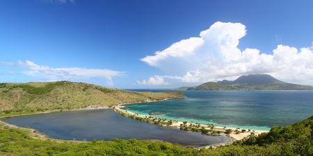 Majors Bay Beach on the Caribbean island of Saint Kitts