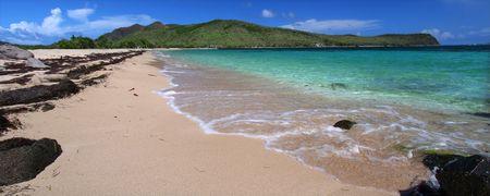 majors: Beautiful beach on Saint Kitts Stock Photo