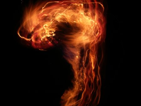 Bright question mark of Flame Stock Photo - 7626251