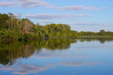 durchstechen: Pierce See im Rock Cut State Park im n�rdlichen Illinois Lizenzfreie Bilder